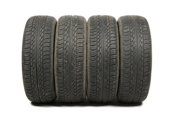worn old tyre