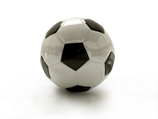 soccer-ball isolated white color