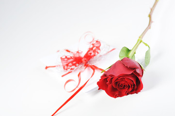 rose and letter