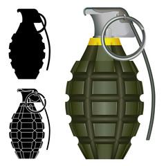 Pineapple hand grenade explosive