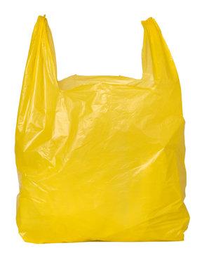 Yellow plastic bag