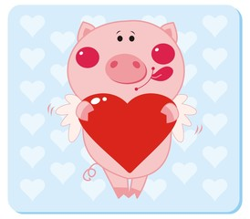 Piggy in love