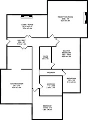 Typical floorplan of a house