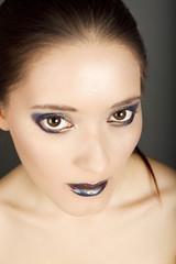 Blaue Lippen