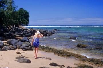 Beachcombing on Hanalei