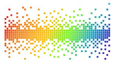 rainbow colors pixels