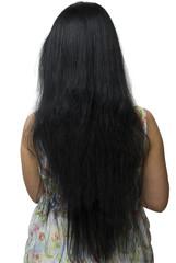 Rear view on woman long hair