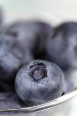 macro blueberry fruit