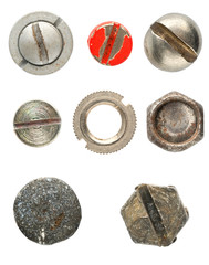 Various screws head