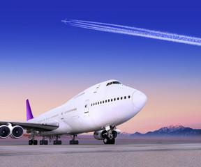 Fotobehang - big plane
