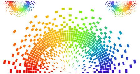 rainbow colored pixel