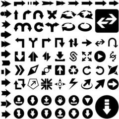 A vector set of useful arrows.