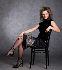 glamor girl posing