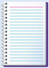 vector illustration of notepad