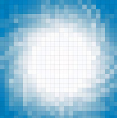Fotobehang Pixel fondo cuadriculado azules