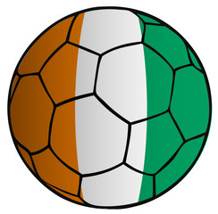 Balón Bandera selección Costa de Marfil