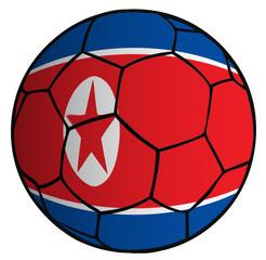 Balón bandera corea del norte