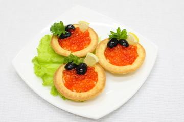 with caviar