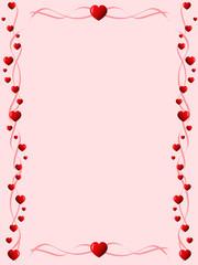 heart lines frame