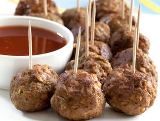 Fotorolgordijn Voorgerecht Meatballs