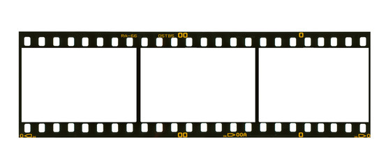 35 mm filmstrip, 3 picture frames,