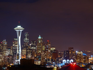 Night Scene of Seattle