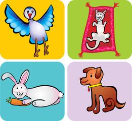 animals children's drawing