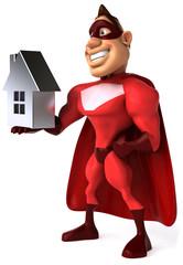 Superhéros et maison