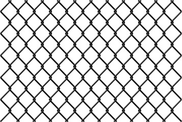 Chainlink fence Vector with reflection