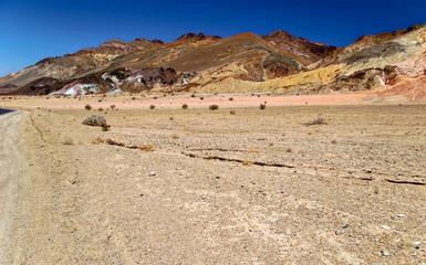 Lifeless landscape of Death Valley . California. USA