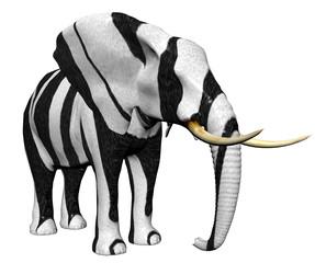 elephant in big cat fur