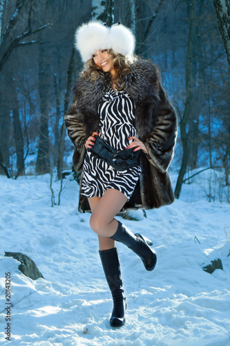фото сексуальных девушек в зимней одежде