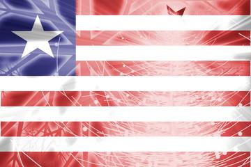 Flag of Liberia christmas holidays