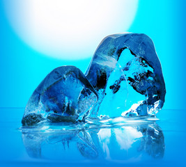 abstract artistic blue ice background,