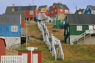 Typical accessibility in Greenlandic towns.