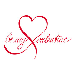 Be my valentine-Herz
