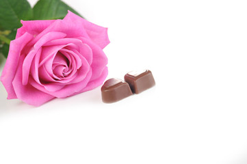 rose and chocolate