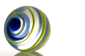 Bille de verre en macro