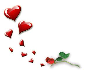 cuori e la rosa