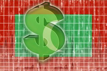 Flag of Maldives finance economy