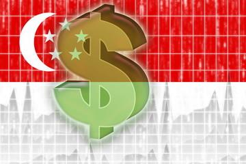 Flag of Singapore finance economy