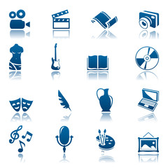 Art & hobby icon set