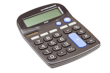 Black Calculator on isolated white background