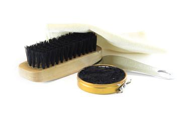 shoe brush with wax