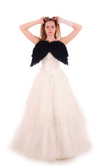 bride with black wings
