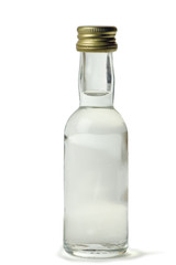 Vodka bottle it is isolated on the white