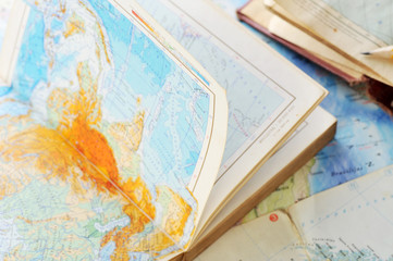 atlas book on  map