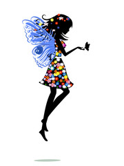 Recess Fitting Floral woman fairy