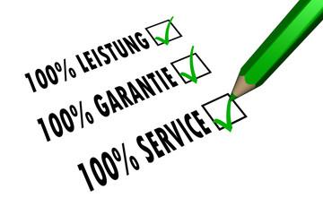 Service - Leistung - Garantie