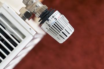 radiator thermostat, red floor